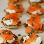 smoked salmon on potato scones by larderlobe