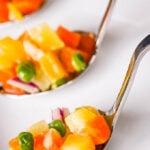 Scottish salad spoons close up