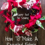 how to make a recycled fabric wreath