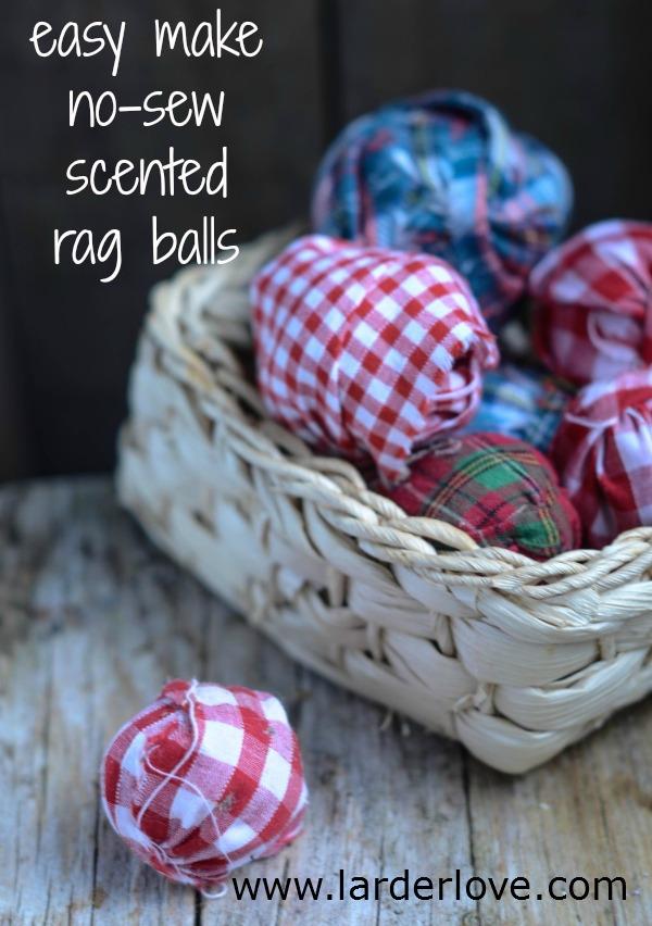 scented rag balls