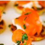 smoked salmon on potato scones