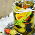 Christmas spiced mixed olives