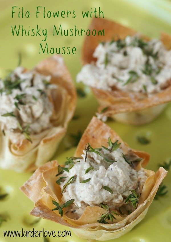 Filo Flowers with whisky mushroom mousse 1