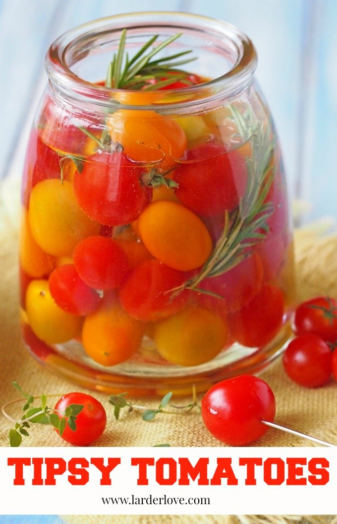 vodka infused tomatoes by larderlove