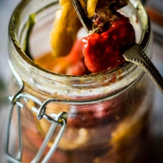 peppers preserved in oil by larderlove
