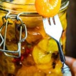 sweet and sour pickled apricots