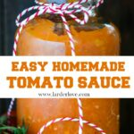 easy homemade tomato sauce pin image