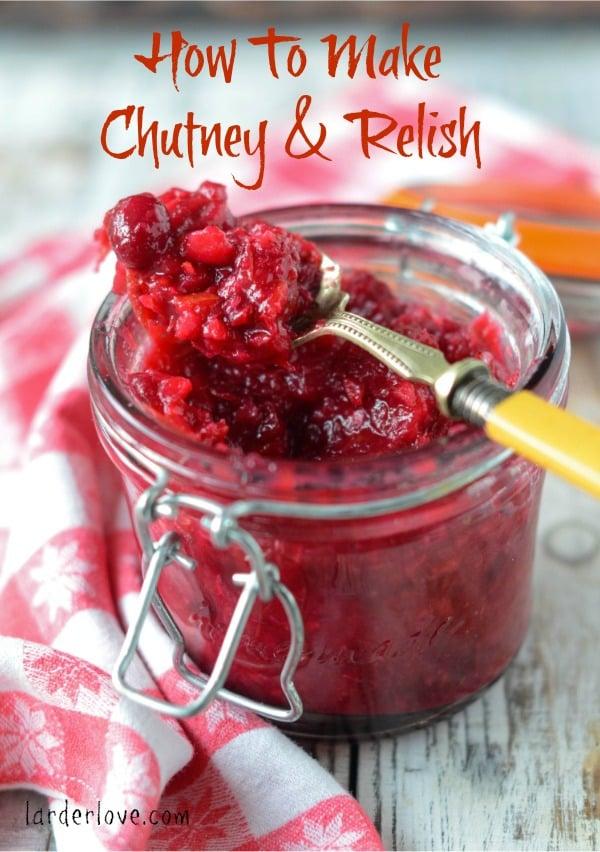 how to make chutney and relish