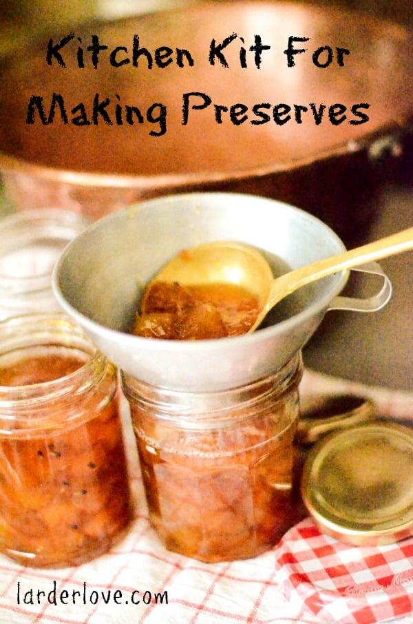 kitchen kit for making preserves