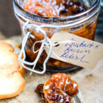 rhubarb and raisin relish by larderlove.com