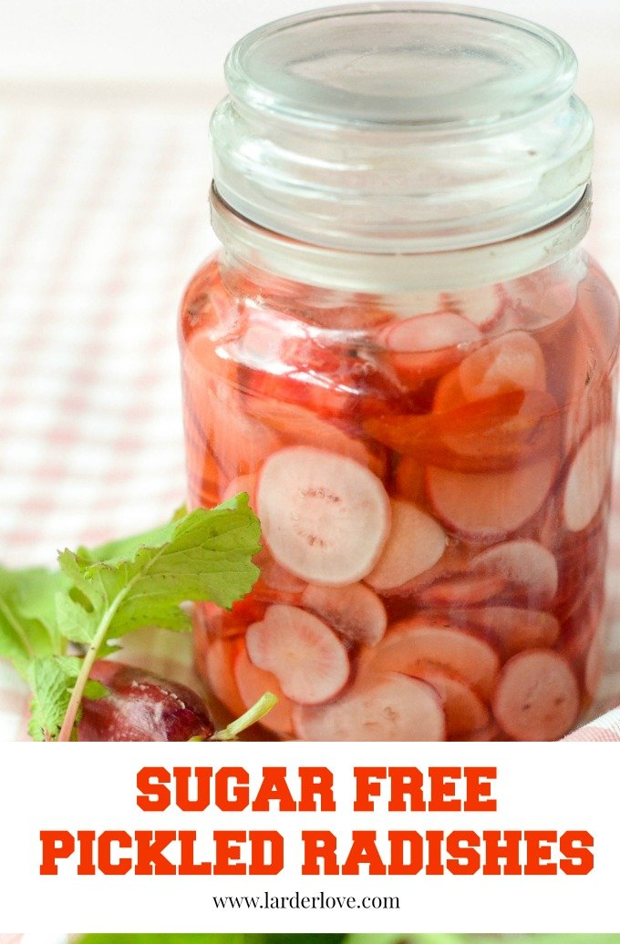 sugar free pickled radishes by larderlove