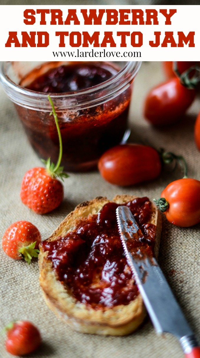 strawberry and tomato jam by larderlove