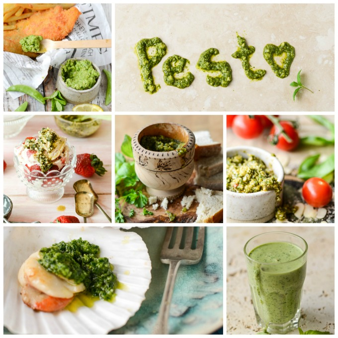 a passion for pesto collage of book images