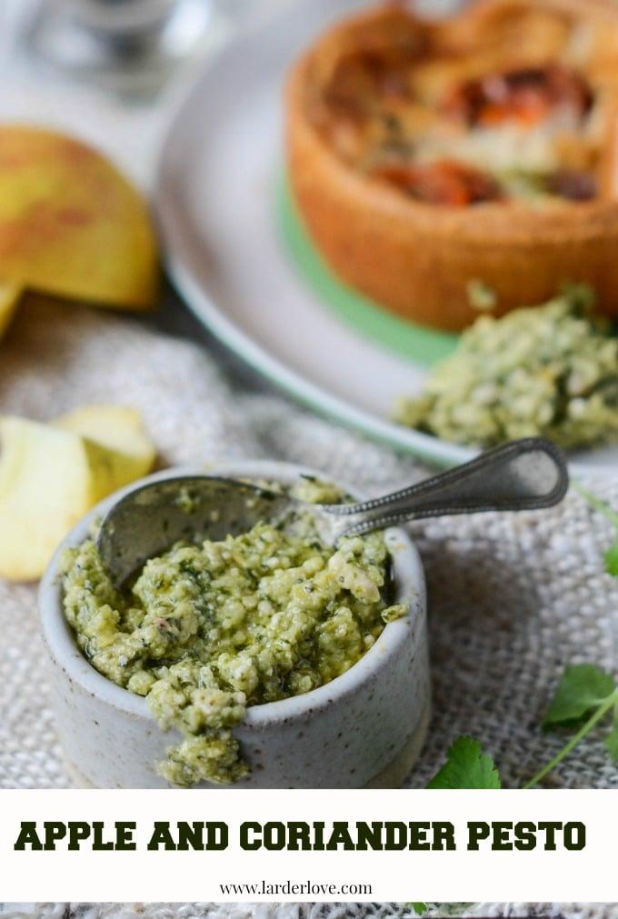 apple and coriander pesto by larderlove