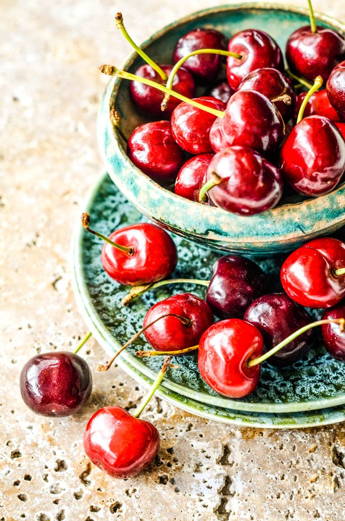 cherries in bowls