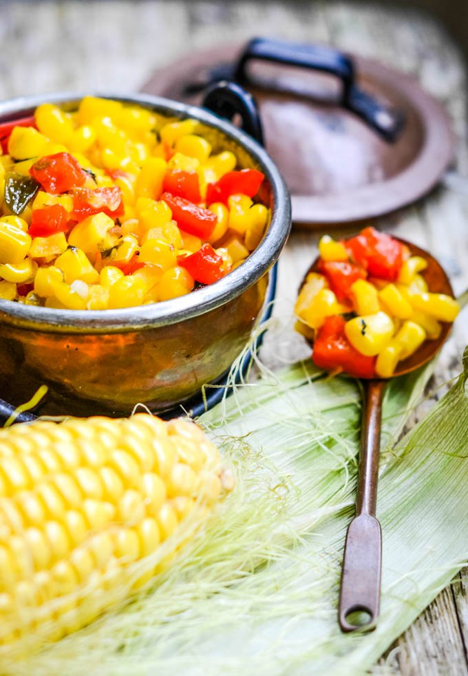 sweetcorn relish top down shot