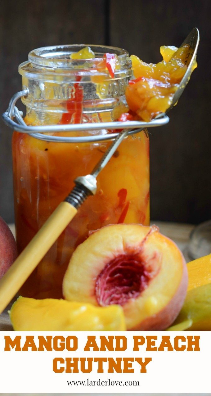 mango and peach chutney by larderlove