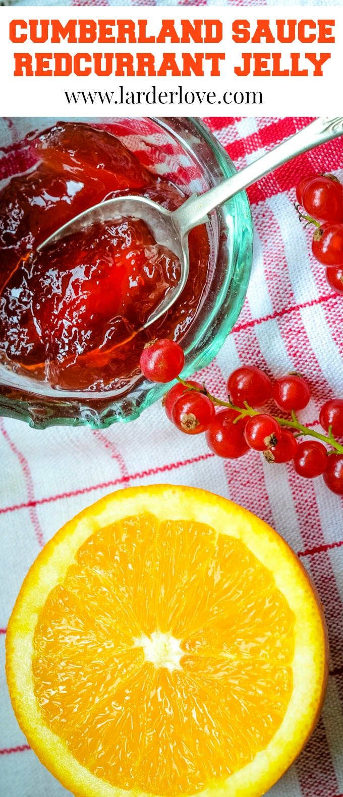 Cumberland Sauce Redcurrant Jelly pin image