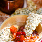 summer fruits relish with crackers
