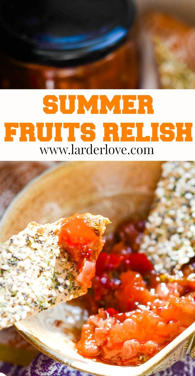 summer fruits relish pin image