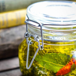 labneh in herb oil by larderlove