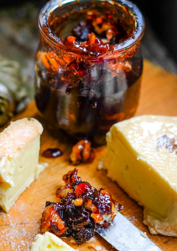 plum and walnut jam with brandy