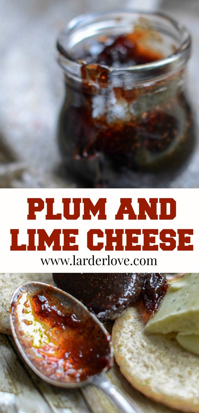 plum cheese with lime by larderlove