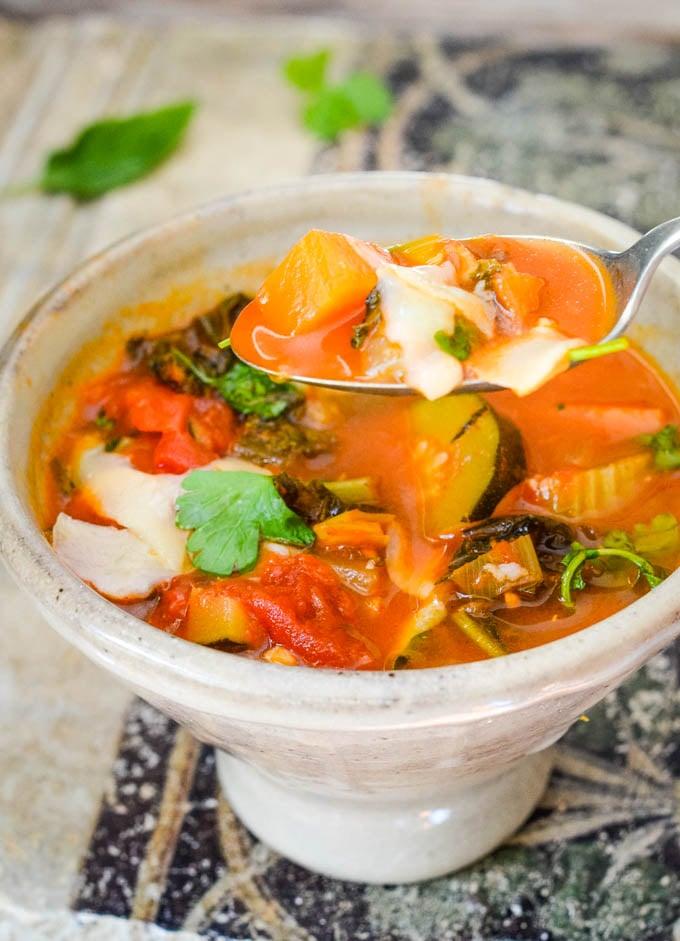 spoonful of veg soup