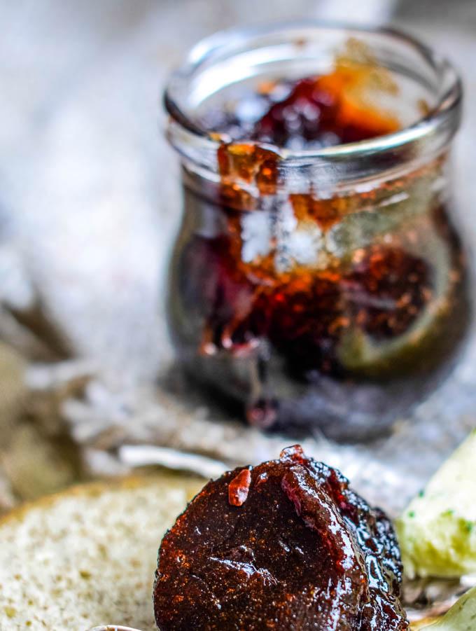 close up of jar