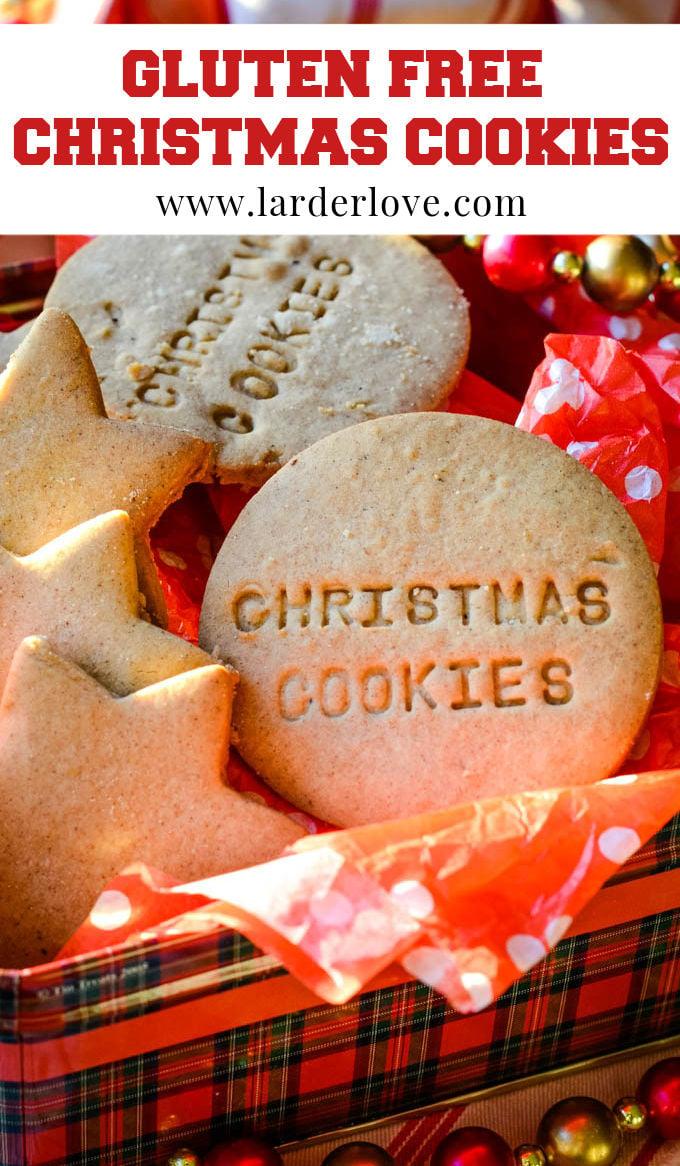 gluten free Christmas cookies pin image