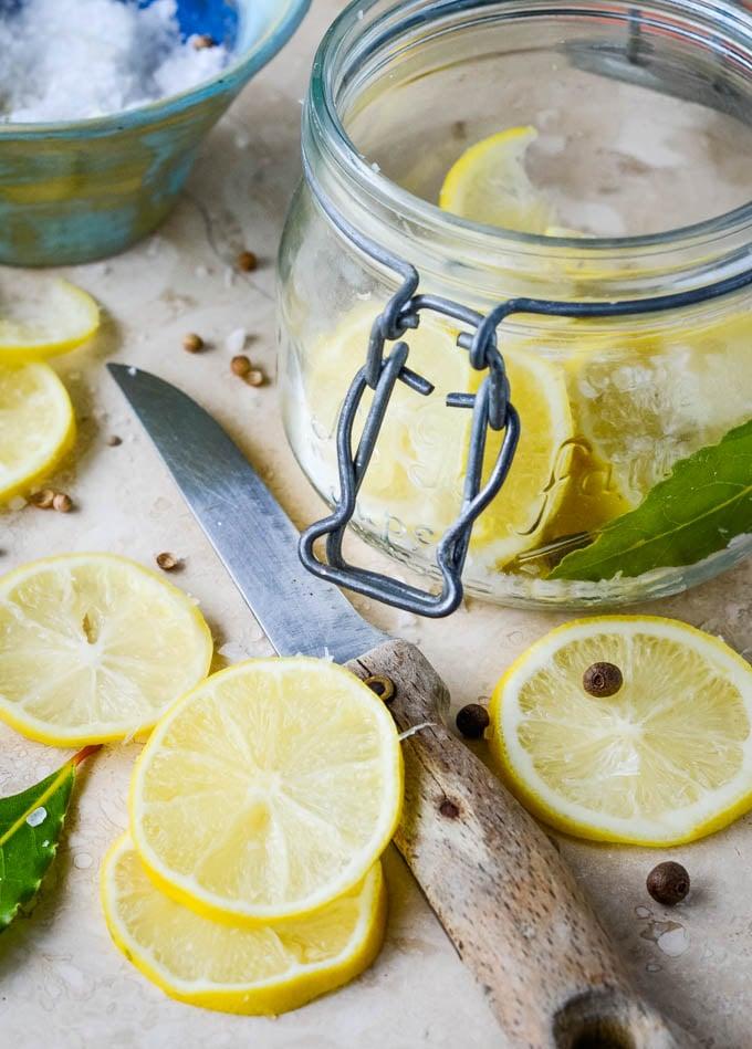 lemons in slices