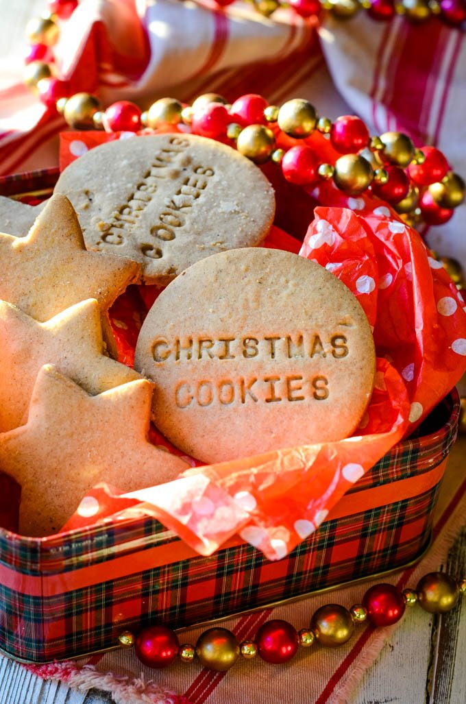 Refined sugar free gluten free Christmas cookies