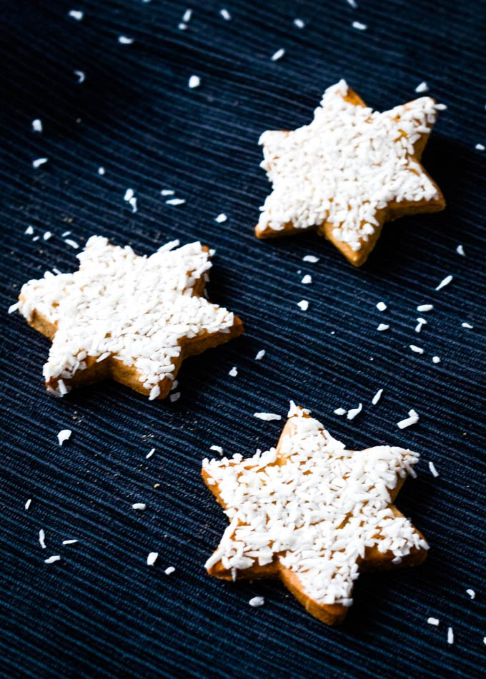 cookie stars on dark background