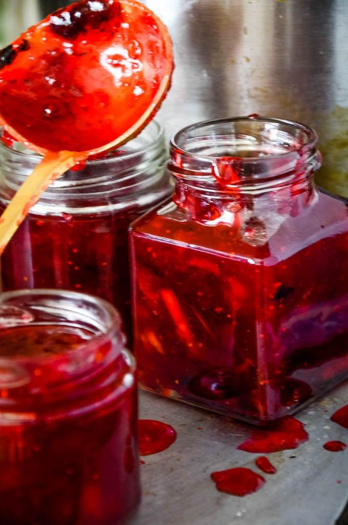 ladle and jars