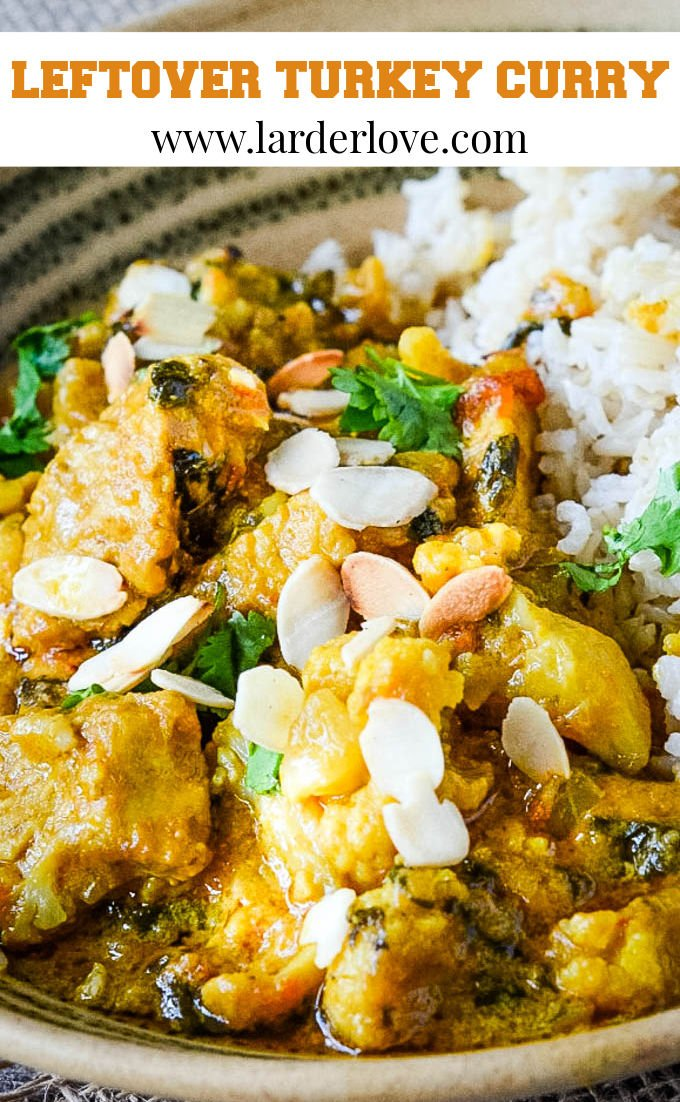 leftover turkey curry pin image