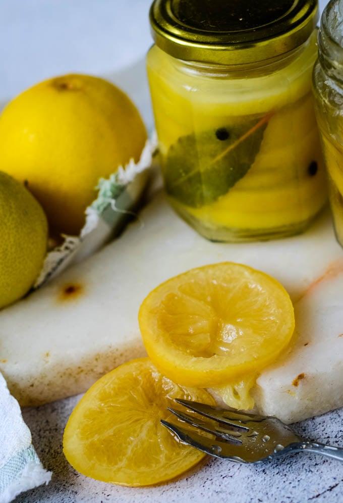 using preserved lemons
