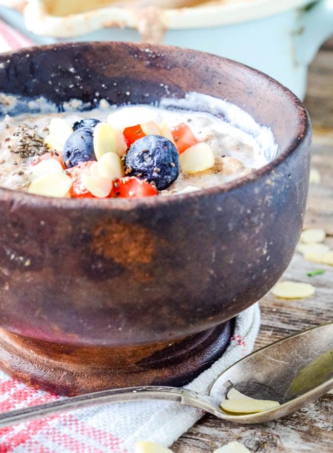 close up of porridge