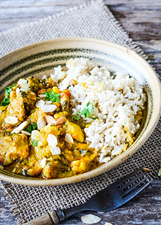 bowl of turkey curry