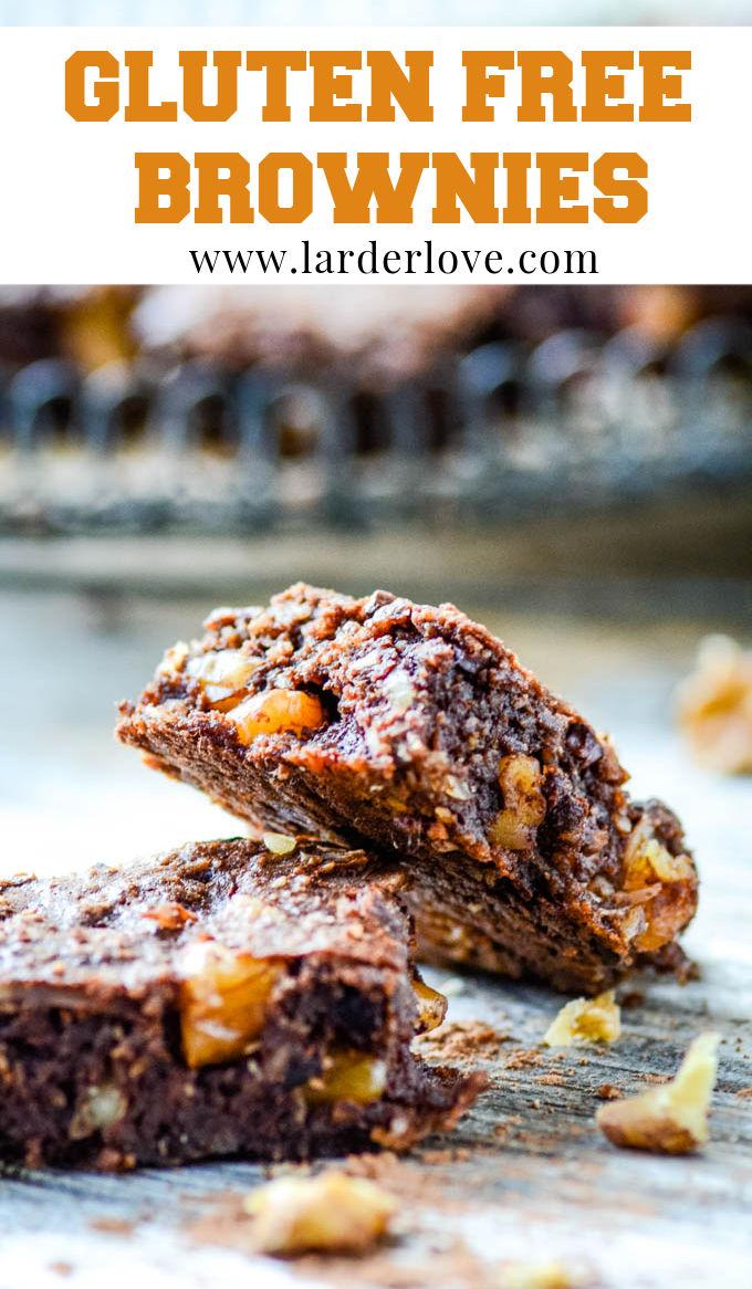 gluten free brownies pin image