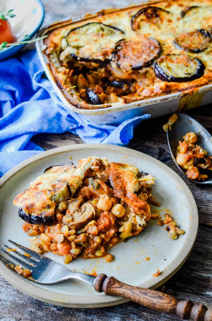 Easy Vegetarian Moussaka Recipe Larder Love