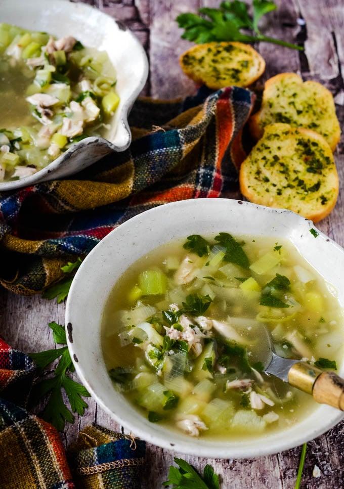cock-a-leekie soup
