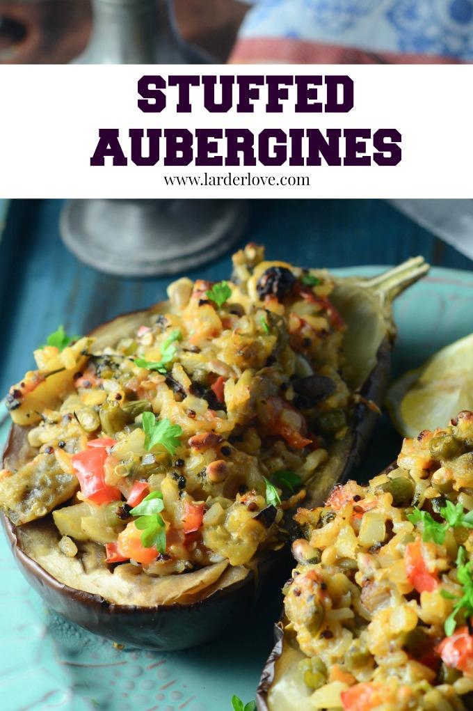 stuyffed aubergine by larderlove