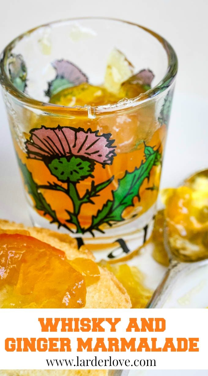 whisky and ginger marmalade pin image