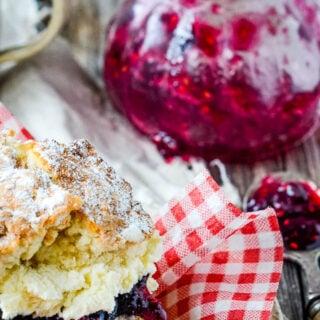 raspberry and blueberry jam