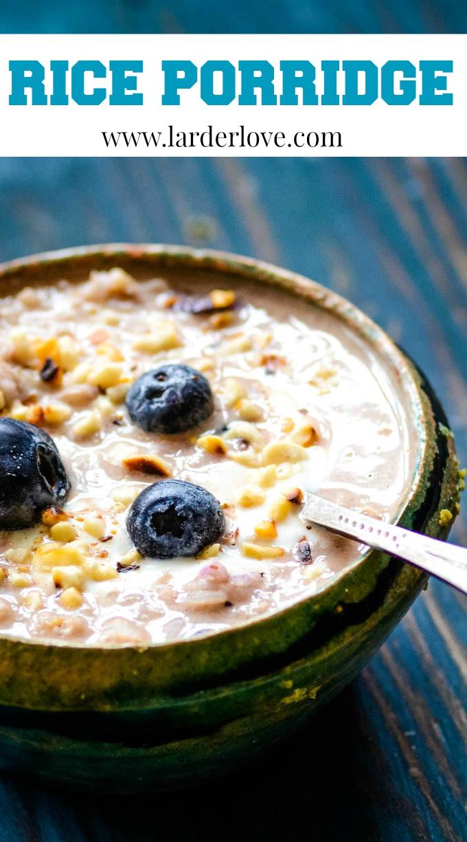 healthy rice porridge pin image