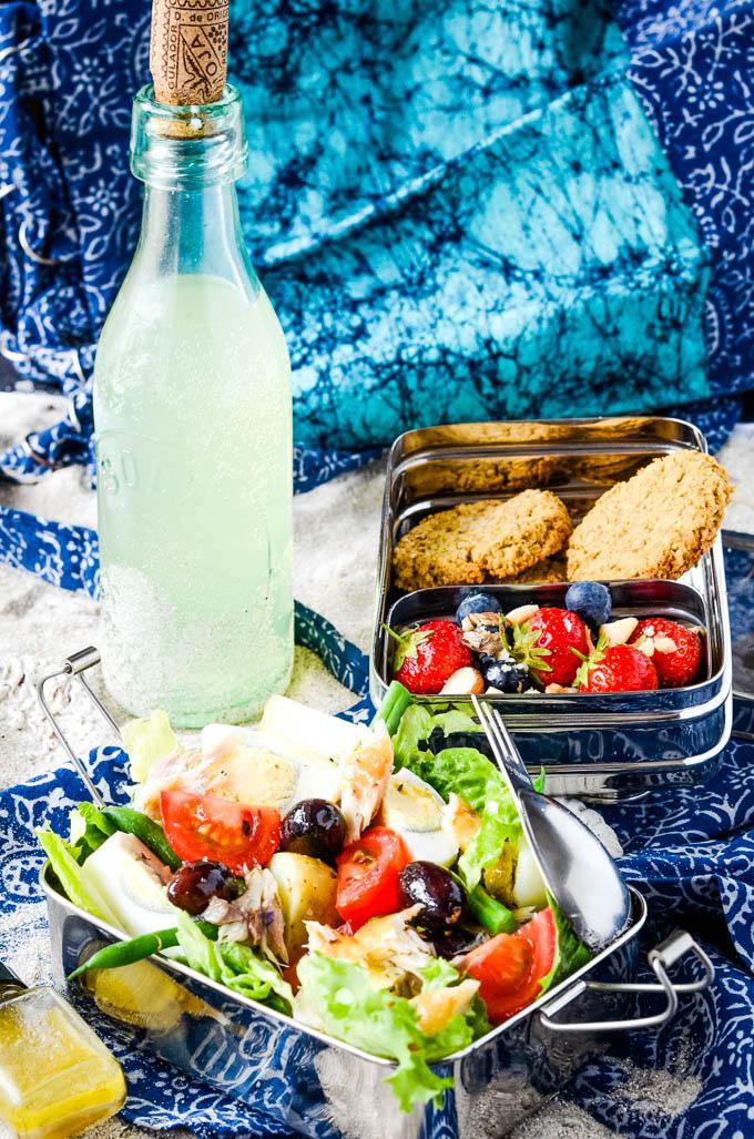 picnic box and salad