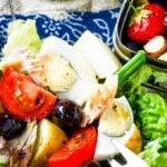 salad nicoise with smoked mackerel