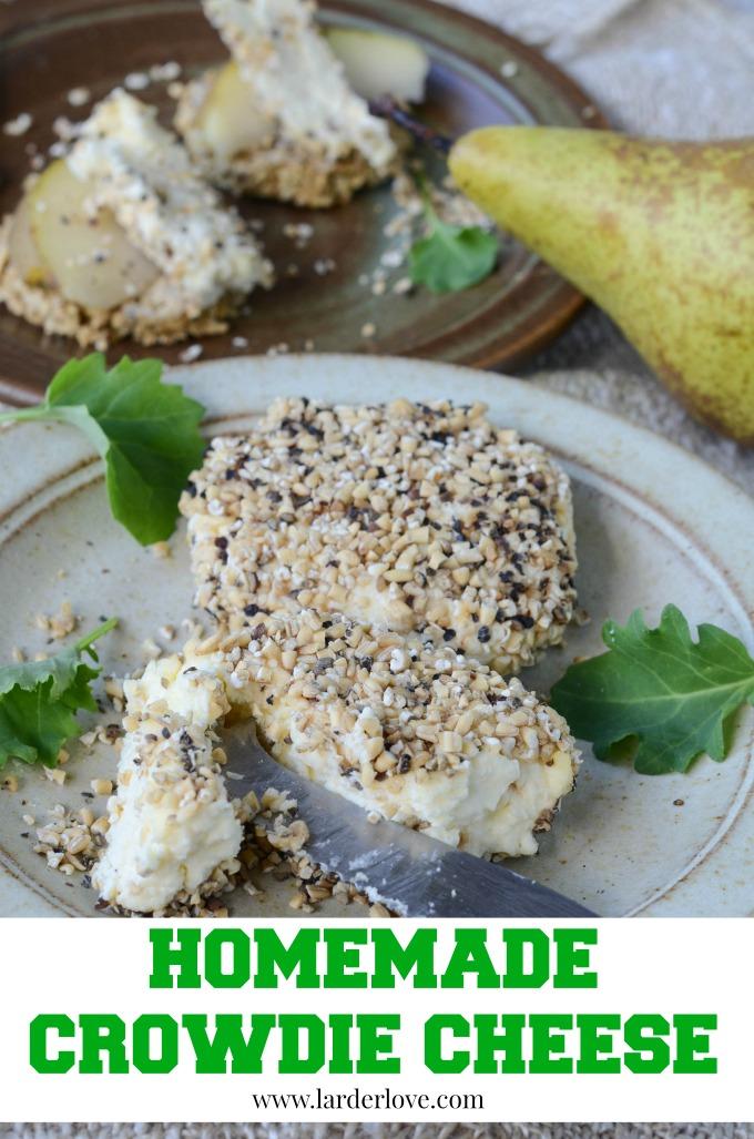 homemade crowdie cheese by larderlove