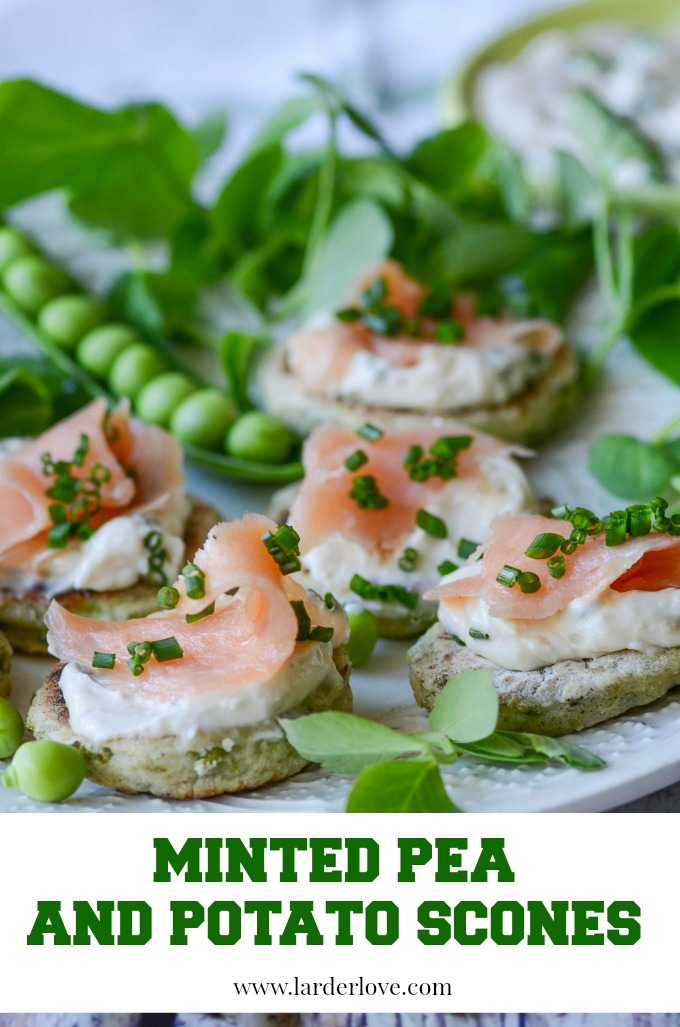 minted pea and potato scones by larderlove