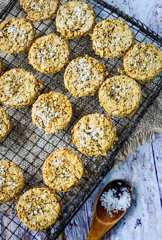 oatcakes on drying rack